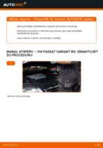 VW Passat 3C B6 Variant: priekšpusē atsperu – nomaiņas rokasgrāmata
