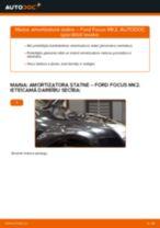 Ford Focus MK2: priekšpusē amortizatora statne – nomaiņas rokasgrāmata
