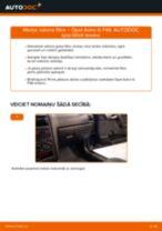 Opel Astra G F48: salona filtra – nomaiņas rokasgrāmata