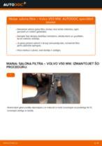 Rokasgrāmata PDF par V50 apkopi