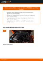 Audi A3 8L1: salona filtra – nomaiņas rokasgrāmata