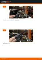 Opel Zafira F75: priekšpusē logu slotiņu – nomaiņas rokasgrāmata