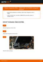 BMW E39: degvielas filtra – nomaiņas rokasgrāmata