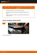 Audi A4 B8: motoreļļas un filtra – nomaiņas rokasgrāmata