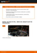 BMW E39: salona filtra – nomaiņas rokasgrāmata