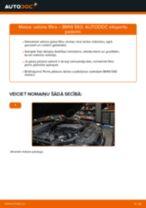 BMW E60: salona filtra – nomaiņas rokasgrāmata