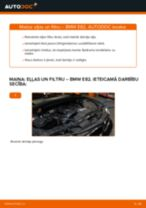 BMW E82: motoreļļas un filtra – nomaiņas rokasgrāmata
