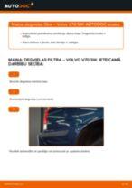 Volvo V70 SW: degvielas filtra – nomaiņas rokasgrāmata