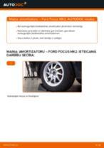 Ford Focus MK2: aizmugurē amortizatoru – nomaiņas rokasgrāmata