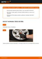 VW Golf 3: priekšpusē riteņa rumbas gultņa – nomaiņas rokasgrāmata