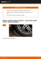 Audi A4 B6 Avant: priekšpusē stabilizatora atsaites – nomaiņas rokasgrāmata