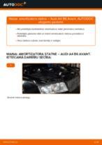 Audi A4 B6 Avant: priekšpusē amortizatora statne – nomaiņas rokasgrāmata