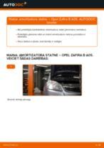 Opel Zafira B A05: priekšpusē amortizatora statne – nomaiņas rokasgrāmata