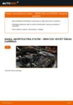 BMW E39: priekšpusē amortizatora statne – nomaiņas rokasgrāmata