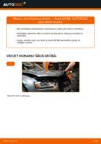 Audi A4 B8: priekšpusē amortizatora statne – nomaiņas rokasgrāmata