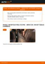 BMW E39: aizmugurē amortizatora statne – nomaiņas rokasgrāmata
