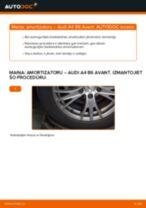 Audi A4 B6 Avant: aizmugurē amortizatoru – nomaiņas rokasgrāmata