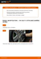VW GOLF IV (1J1) Amortizators uzstādīšana - soli-pa-solim pamācības