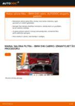 Salona filtrs nomaiņa uz BMW 3 Convertible (E46) - padomi un viltības