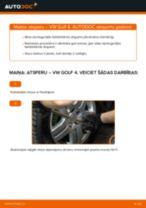 Kā nomainīt aizmugurē un priekšā Motora stiprinājums Audi A4 B6 Avant - instrukcijas tiešsaistes