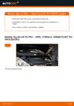 Opel Corsa D: motoreļļas un filtra – nomaiņas rokasgrāmata