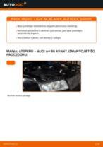 Kā nomainīt: priekšas atsperes Audi A4 B6 Avant - nomaiņas ceļvedis