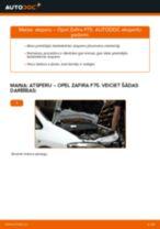 Kā nomainīt: priekšas atsperes Opel Zafira F75 - nomaiņas ceļvedis