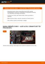 Kā nomainīt: aizmugures bremžu diskus Audi A3 8L1 - nomaiņas ceļvedis