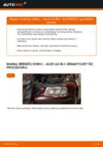 Kā nomainīt: priekšas bremžu diskus Audi A3 8L1 - nomaiņas ceļvedis