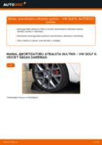 Kā nomainīt: aizmugures amortizatoru atbalsta gultņi VW Golf 6 - nomaiņas ceļvedis