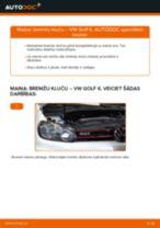 Kā nomainīt: aizmugures bremžu klučus VW Golf 6 - nomaiņas ceļvedis