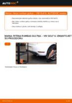 Kā nomainīt: aizmugures riteņa rumbas gultņa VW Golf 6 - nomaiņas ceļvedis