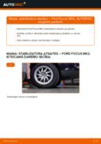 Ford Focus MK2: priekšpusē stabilizatora atsaites – nomaiņas rokasgrāmata