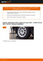 Kā nomainīt: aizmugures amortizatoru atbalsta gultņi Ford Focus MK2 - nomaiņas ceļvedis