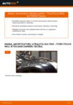 Kā nomainīt: priekšas amortizatoru atbalsta gultņi Ford Focus MK2 - nomaiņas ceļvedis