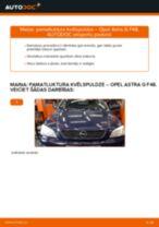 Opel Astra g f48 darbnīcas rokasgrāmata