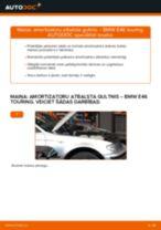 Kā nomainīt: priekšas amortizatoru atbalsta gultņi BMW E46 touring - nomaiņas ceļvedis