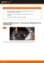 Kā nomainīt: priekšas bremžu klučus Audi A6 4F2 - nomaiņas ceļvedis
