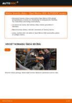 Kā nomainīt: priekšas bremžu diskus Opel Meriva X03 - nomaiņas ceļvedis