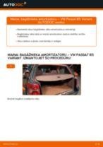 Kā nomainīt: bagāžnieka amortizatoru VW Passat B5 Variant - nomaiņas ceļvedis