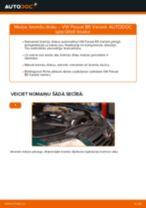 Kā nomainīt un noregulēt Bremžu diski VW PASSAT: pdf ceļvedis