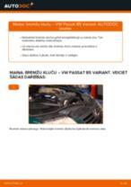 Kā nomainīt un noregulēt Bremžu uzlikas VW PASSAT: pdf ceļvedis