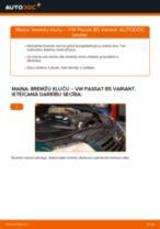 VW PASSAT Variant (3B6) Bremžu uzlikas uzstādīšana - soli-pa-solim pamācības