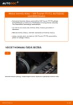 VW TOURAN Bremžu diski nomaiņa: rokasgrāmata
