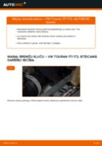 VW TOURAN Bremžu Kluči nomaiņa: rokasgrāmata
