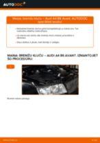 Kā nomainīt: aizmugures bremžu klučus Audi A4 B6 Avant - nomaiņas ceļvedis