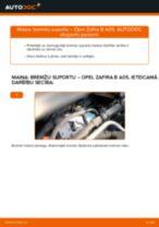 Kā nomainīt: priekšas bremžu suportu Opel Zafira B A05 - nomaiņas ceļvedis