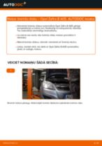 Kā nomainīt: aizmugures bremžu diskus Opel Zafira B A05 - nomaiņas ceļvedis