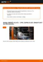 Kā nomainīt: aizmugures bremžu klučus Opel Zafira B A05 - nomaiņas ceļvedis