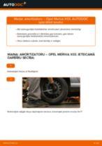 Kā nomainīt: aizmugures amortizatoru Opel Meriva X03 - nomaiņas ceļvedis
